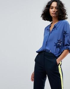 Шелковая рубашка с принтом BOSS Casual - Мульти