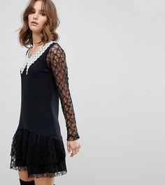 Эксклюзивное кружевное платье Anna Sui - Черный