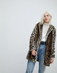 Удлиненная куртка с леопардовым принтом Vero Moda - Серый