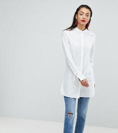 Удлиненная рубашка с завязками на рукавах Vero Moda Tall - Белый