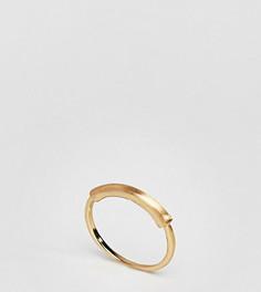 Кольцо c планкой ASOS CURVE - Золотой