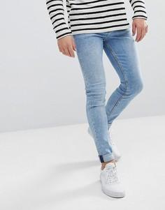 Синие супероблегающие джинсы Weekday Form Ratio - Синий