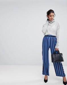 Широкие брюки в полоску Y.A.S - Синий