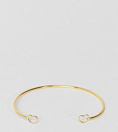Браслет-манжета из позолоченного серебра ASOS - Золотой