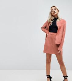 Юбка мини из искусственной замши Vero Moda Petite - Розовый