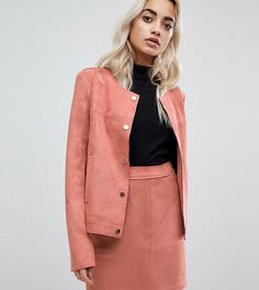 Блейзер из искусственной замши Vero Moda Petite - Розовый