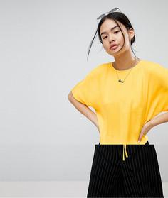 Топ со шнурком-завязкой Noisy May - Желтый