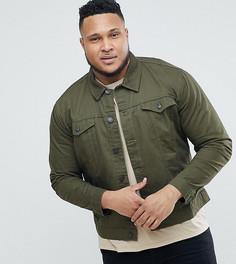 Саржевая куртка Only & Sons PLUS - Зеленый