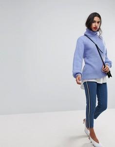 Джинсы в винтажном стиле с отделкой лентой по бокам Vero Moda - Синий