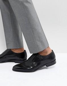 Черные кожаные монки HUGO - Черный