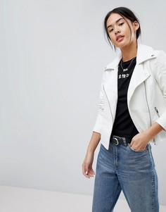 Куртка из искусственной кожи Noisy May - Белый