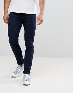Темно-синие саржевые брюки узкого кроя Farah Drake - Темно-синий