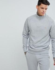 Серый узкий свитшот с молнией Farah Jim - Серый