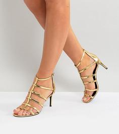 Босоножки для широкой стопы с ремешками New Look - Золотой
