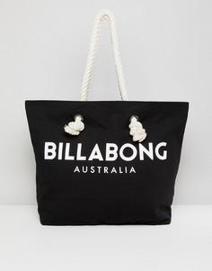 Пляжная сумка-тоут с логотипом Billabong - Черный