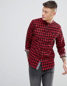 Рубашка в клетку с длинными рукавами Brave Soul - Красный