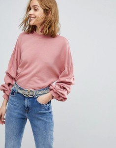 Свитшот с пышными рукавами Vero Moda - Розовый