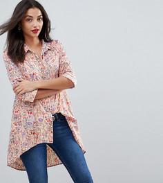 Рубашка с принтом и асимметричным краем Vero Moda Tall - Мульти