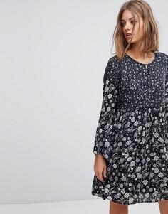 Свободное платье с принтом Esprit - Синий