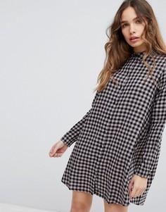 Платье-рубашка с принтом в клетку JDY - Мульти