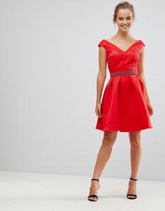 Приталенное платье Little Mistress - Красный