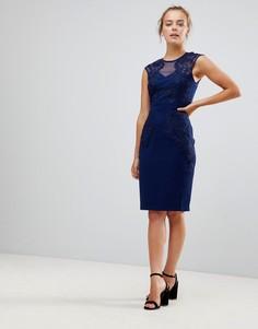 Платье-футляр с кружевом Little Mistress - Темно-синий