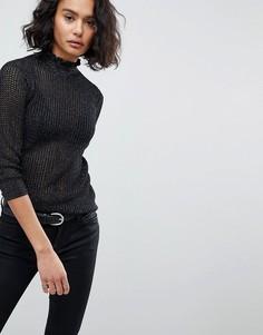 Легкий джемпер с эффектом металлик AllSaints - Черный