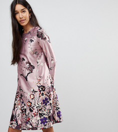 Платье с цветочным принтом Y.A.S Tall - Розовый