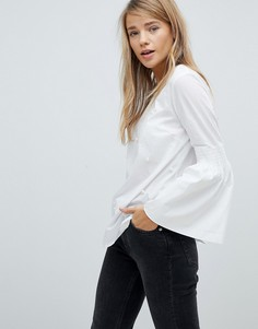 Рубашка с искусственным жемчугом Pimkie - Белый