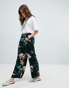 Широкие брюки с цветочным принтом Only - Мульти
