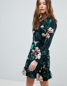 Платье с запахом и цветочным принтом Only - Мульти