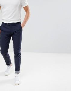 Строгие брюки узкого кроя Ted Baker - Темно-синий