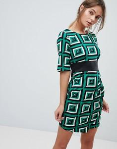 Платье с принтом Closet - Зеленый