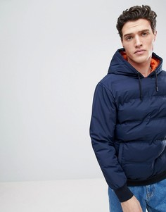 Дутая куртка с капюшоном Native Youth - Темно-синий