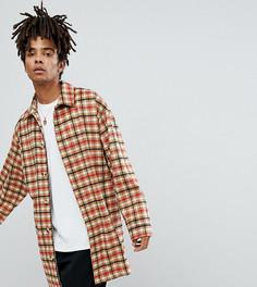 Светло-коричневое пальто в клетку Reclaimed Vintage Inspired - Рыжий