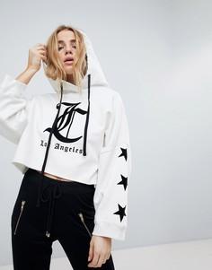 Укороченный худи с логотипом Juicy By Juicy Couture - Белый
