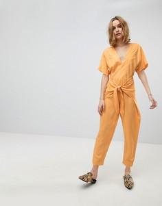 Комбинезон с завязками Free People Shining Sun - Оранжевый
