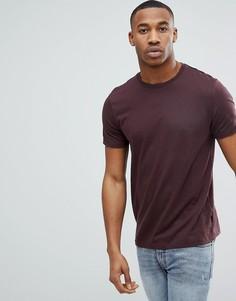 Бордовая футболка Burton Menswear - Красный