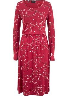 Платье (красный с рисунком) Bonprix