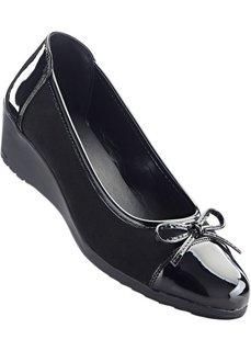 Туфли на танкетке (черный) Bonprix
