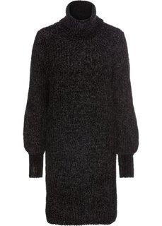 Платье из синельной пряжи (черный) Bonprix