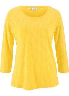 Футболка в горошек (желтый/белый в горошек) Bonprix