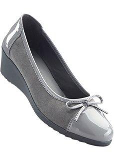 Туфли на танкетке (серый) Bonprix