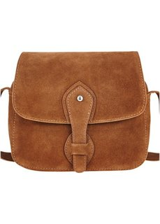 Кожаная сумка на ремне через плечо (коньячный) Bonprix