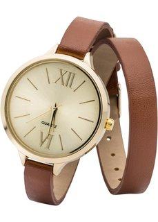 Часы на длинном браслете (светло-коричневый/золотистый) Bonprix