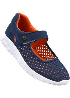 Балетки (синий/оранжевый) Bonprix