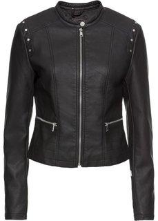 Куртка байкерская (черный) Bonprix