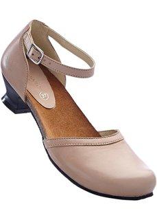 Кожаные туфли (серо-коричневый) Bonprix