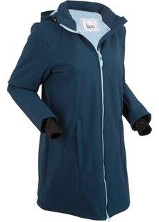 Куртка с плюшем (темно-синий) Bonprix