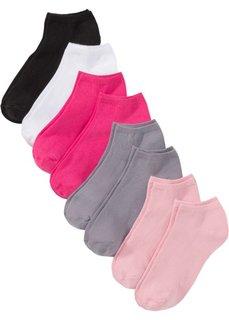 Короткие носки (8 пар) (черный/серый/розовый) Bonprix